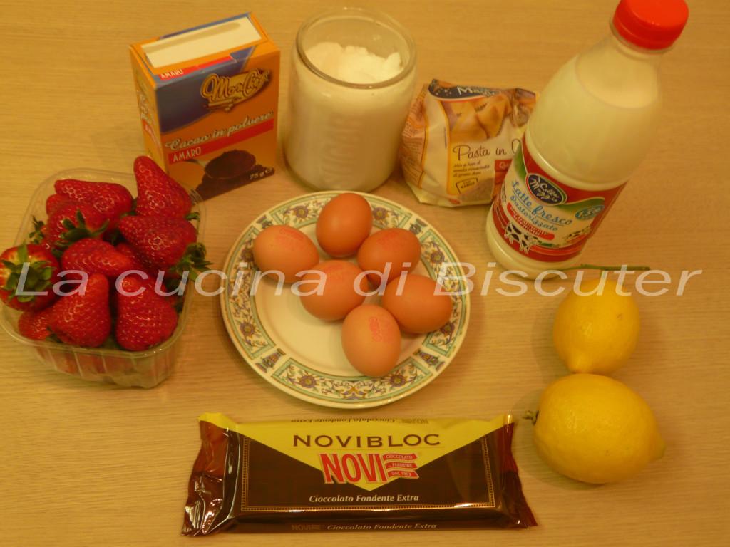 Coppa fragole crema e cioccolato _1
