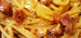 Spaghetti pancetta e rosmarino.