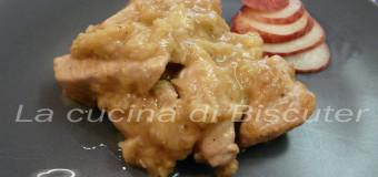 Bocconcini di pollo al profumo di pesche