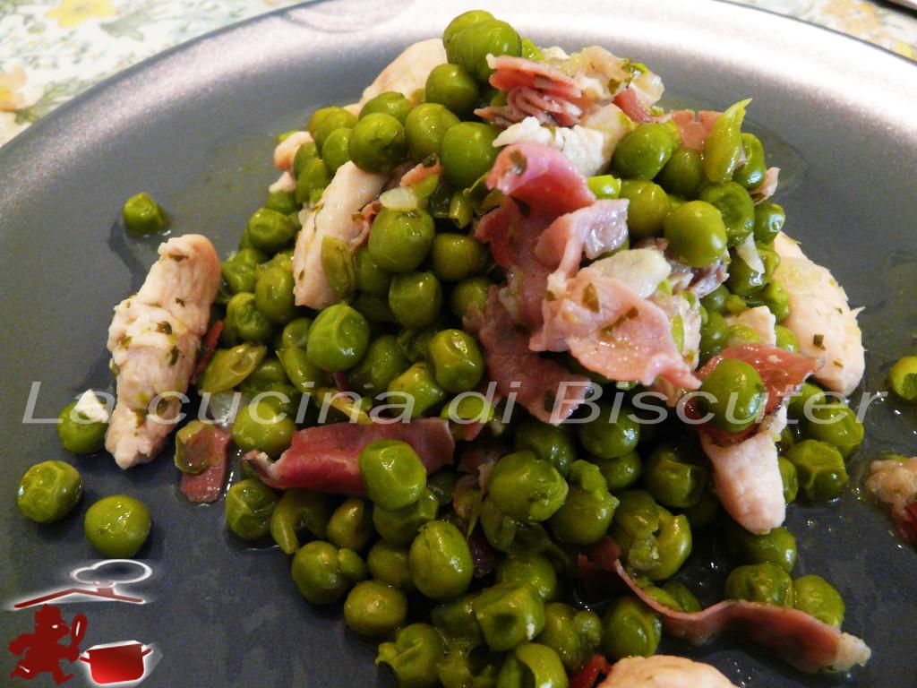 Pollo con piselli allla Asturiana -
