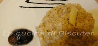 Risotto con castagne e noci mantecato al taleggio